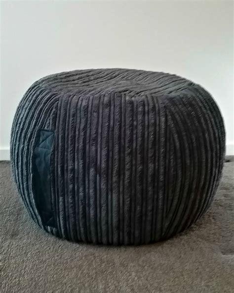 Velvet Pouf Ottoman - ottoman pouf grey velvet pouf charcoal pouf