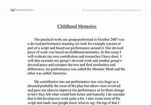 my sweet memories essay