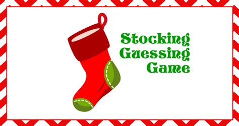 christmas stocking guessing game sandraclaus