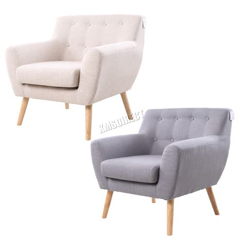 Modern accent arm chair fabric single sofa upholstered seat living room gray usa. FoxHunter Linen Fabric 1 Single Seat Sofa Tub Arm chair Dining Room SSSF-03 New | eBay