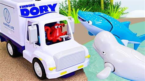 finding dory  hank steal marine life truck finding nemo