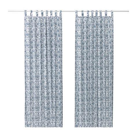 Ikea Gardinen Blau by Ikea Mjolkort Curtains Drapes Blue White Mj 214 Lk 214 Rt Floral