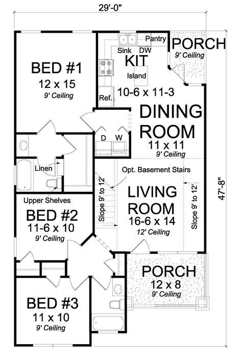cottage floor plan  bedrms  baths  sq ft