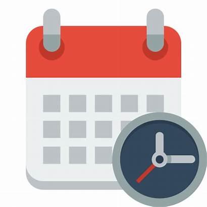Icon Clock Calendar Flat Icons Paomedia