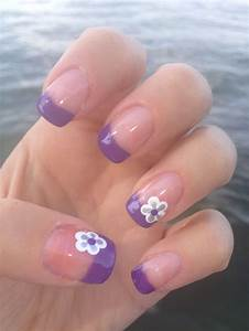 Purple French Tips!   My Nail Designs   Pinterest   French ...