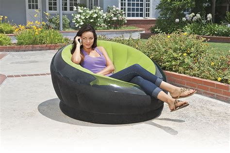 intex empire inflatable chair petagadget