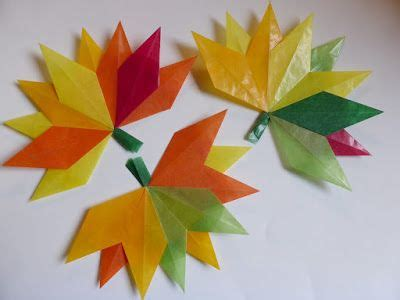 Fenster Blätter by Herbstbl 228 Tter Aus Transparentpapier Falten Anleitung Und
