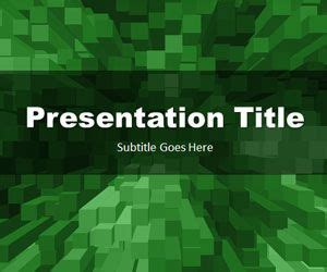 stacked boxes green powerpoint template