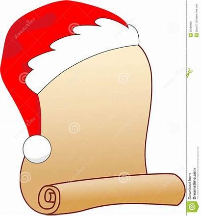 Santa Blank Christmas Scroll Wish Clipart Invitation