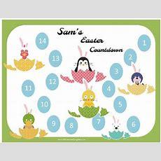 Free Printable Easter Countdown