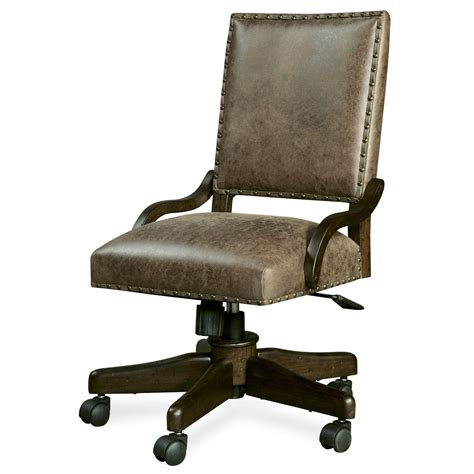 smartstuff paula deen guys henry s leather desk chair