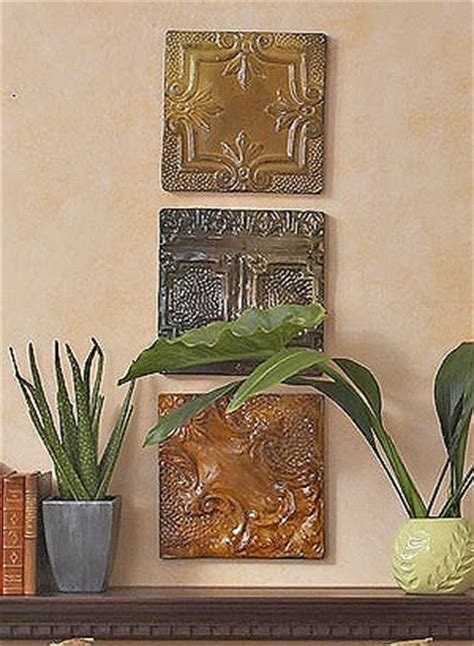 wall using ceiling tiles decor