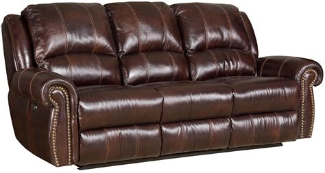 bradington young power reclining sofa sofa in leather upholstered sofa with two power recliners