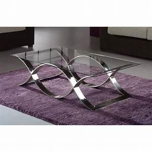 Table Basse Metal Verre : table basse design m tal et verre 130x70 cm achat vente table basse table basse design m tal ~ Mglfilm.com Idées de Décoration