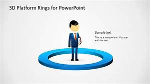 3d Ring Platforms Diagram For Powerpoint