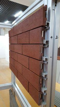 Fassadensystem Aus Backstein by Klinkersteine An Metall Schienen Montiert Fassaden Steko