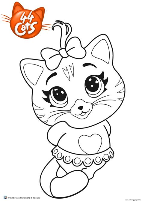 pilou  cats coloring pages printable