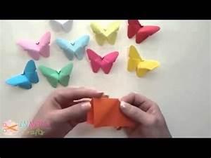 Schmetterling Basteln Papier : einfach schmetterling basteln youtube to fold ~ Lizthompson.info Haus und Dekorationen