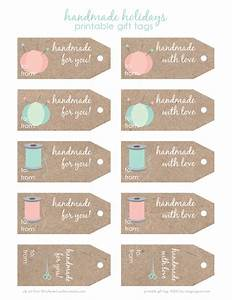 free printable handmade holidays gift tags imagine gnats With handmade for you labels