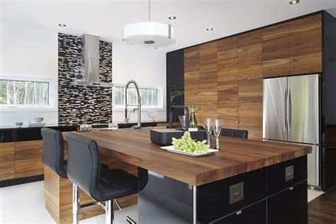 cuisine et des tendances armoires de cuisine moderne placage de noyer et acrylux