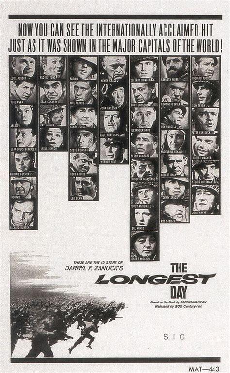 longest movie poster posters wayne john movies war film 1960s cinema 1962 awesome 20th century fox classic films 1961 le