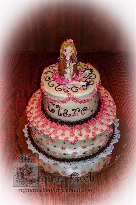 sweet girly birthday cake cakecentralcom
