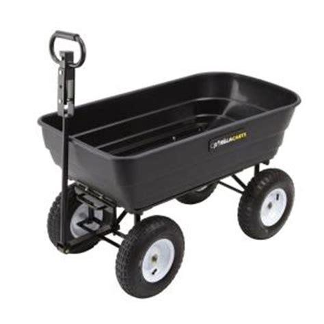 gorilla carts 1000 lb heavy duty poly dump cart gor108d