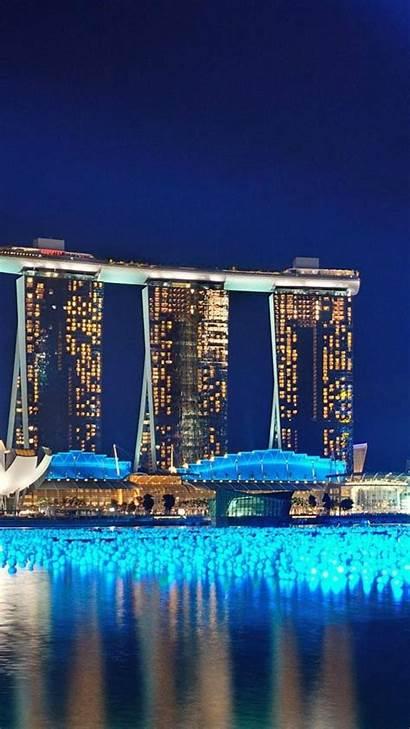 Marina Bay Sands Night Wallpapers Singapore Building
