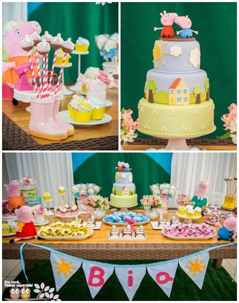 kara s ideas peppa pig themed birthday planning ideas decor idea cake