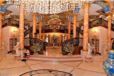 gaudy  square foot mega mansion  southwest ranches