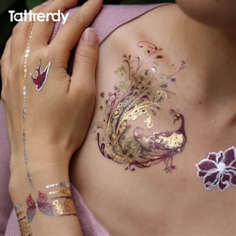 flash metallic waterproof tattoo temporary color gold
