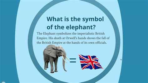 What Is The Symbol by Symbols In Shooting An Elephant