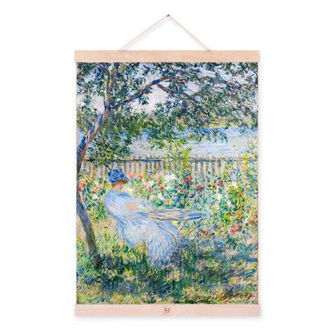 Modern Impressionism Claude Monet Flower Garden A4 Art