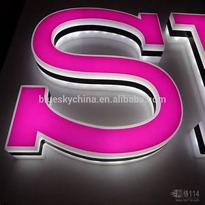 pmma acrylic backlit 3d led letter sign for indoor outdoor With led letter display
