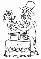 Magician Coloring Pages sketch template