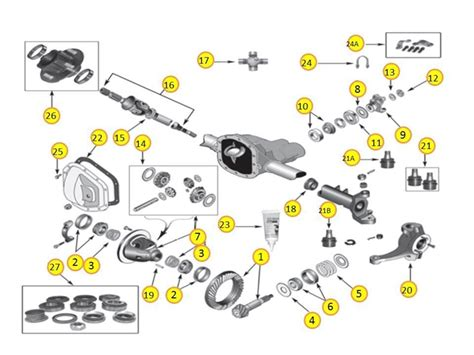 diagrams for jeep axle differential 30 front