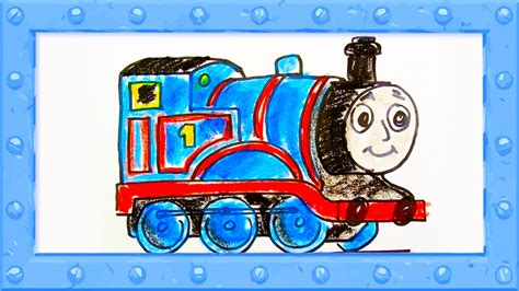draw thomas  tank engine drawing  colors