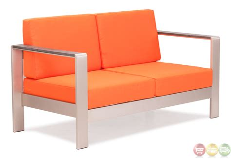 cosmopolitan orange sofa cushions zuo modern 701851 modern