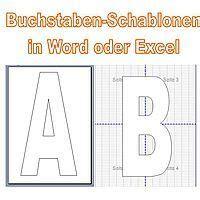 1 din a4 seite, hochkant, in farbe. Große Buchstaben für Plakate in Word oder Excel erstellen ...