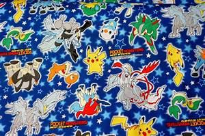 pokemon cotton fabric images