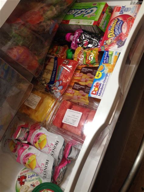Healthy Snack drawer in fridge for kids   Taco Bell sauce