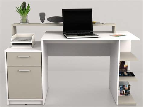catalogue bureau bureau blanc laqué avec rangements catalogue mobilier