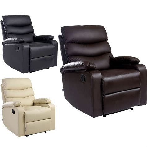 Lounge Armchair by Ashby Leather Recliner Armchair Sofa Home Lounge Chair