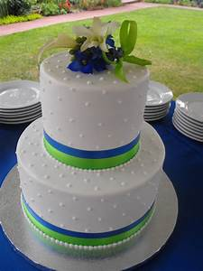 Royal Blue And Lime Green Wedding Cake!!! - CakeCentral.com
