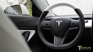 Tesla Model 3 Steering Wheel Matches Black and White Interior - YouTube