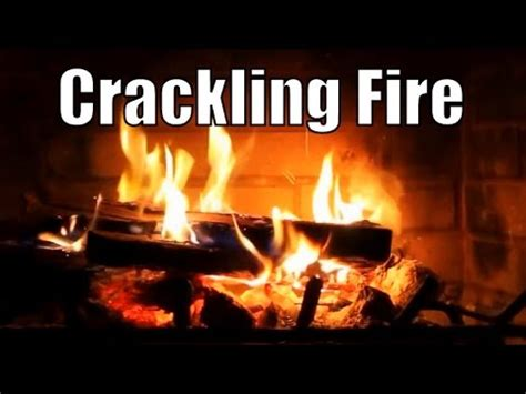 asmr crackling fire virtual fireplace  hour