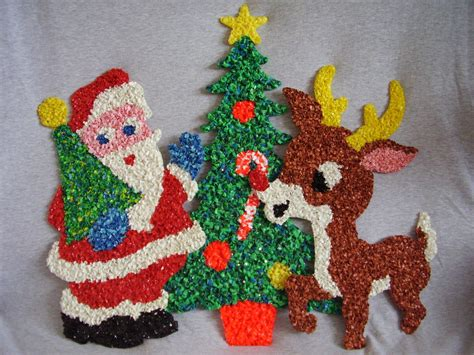 christmas melted plastic popcorn decorations lot  pcs