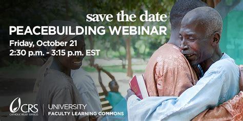 Webinar Meme - peacebuilding resources crs university
