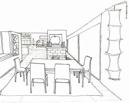 Table Kitchen Drawing Getdrawings
