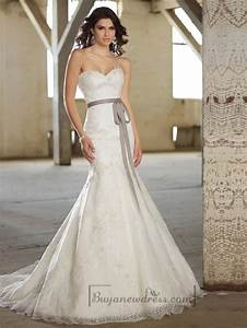 fit and flare sweetheart lace appliques wedding dresses With lace fit and flare wedding dress
